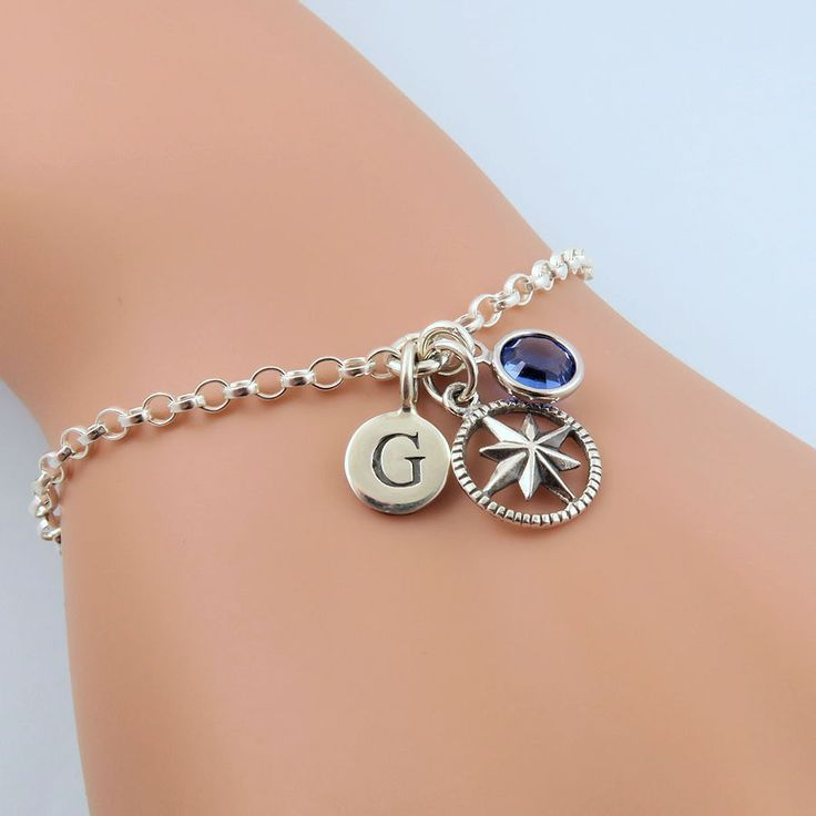 original attic silver compass by product bracelet sterling handmade