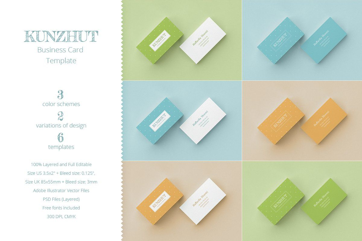 Kunzhut Business Card Template Ad Perfect Project Brand