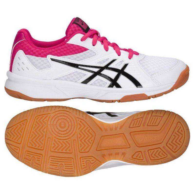 Buty Do Siatkowki Asics Upcourt 3 W 1072a012 101 Biale Wielokolorowe Volleyball Shoes Asics Volleyball Shoes Asics