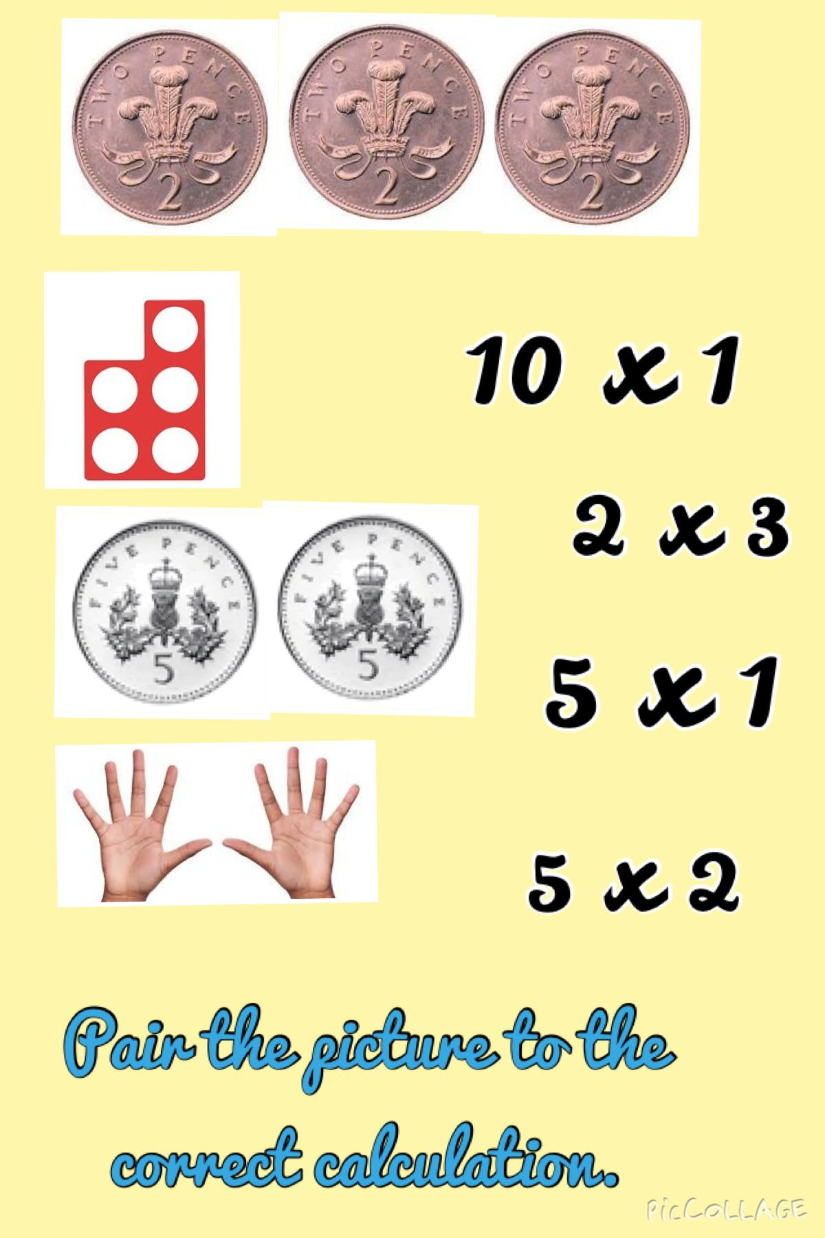 Pair The Picture To The Correct Calculation Making