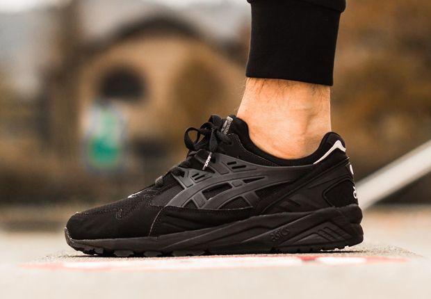 all black asics gel