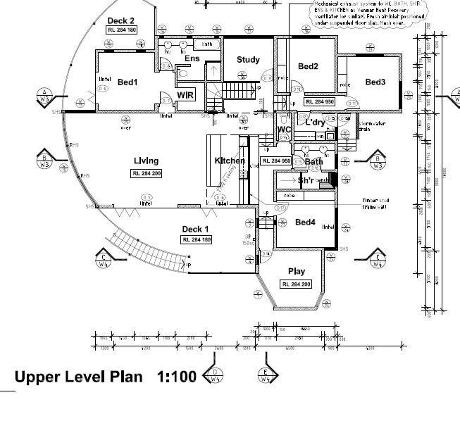 Floor plan, environmentally friendly Australian family home