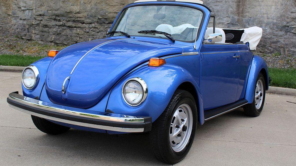 1978 Ancona Blue Metallic 1500cc VW Convertible