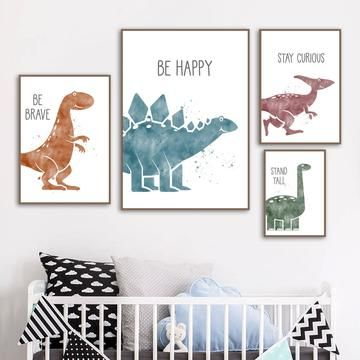 Dinosaur Wall Inspirational Motivation Quote Pictures for Children
