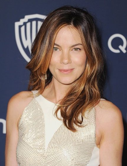 Michelle Monaghan's loose waves at the 2014 Golden Globes