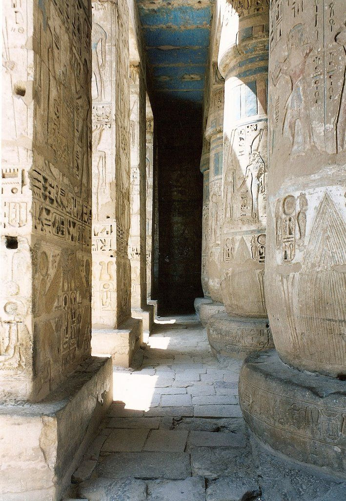 Columnas pigmentadas, Tebas  Egipto