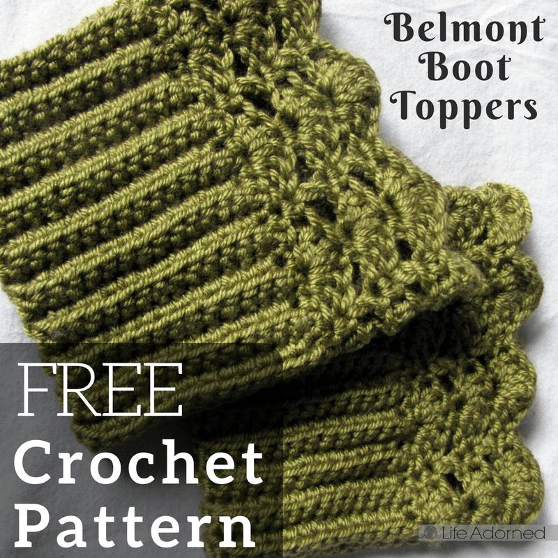 MADE TO ORDER Belmont Handmade Womans Crochet Boot CuffsBoot Toppers