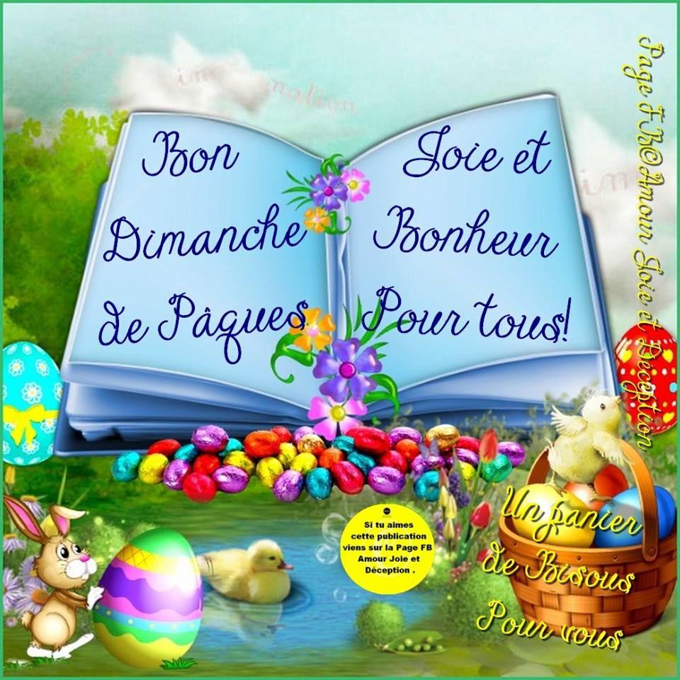 Bon dimanche de p ques joie et bonheur pour tous un panier de bisous pour vous - Joyeuses paques images gratuites ...