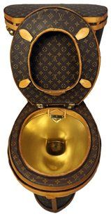 ad818652762e Illma Gore Lv Monogrammed Gold Brown Loo-uis Vuitton Toilet By Tradesy X  Tech Accessory