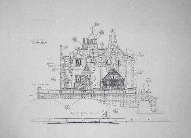 Haunted Mansion theme park blueprints The Haunted Mansion - Disney - copy blueprint start animation