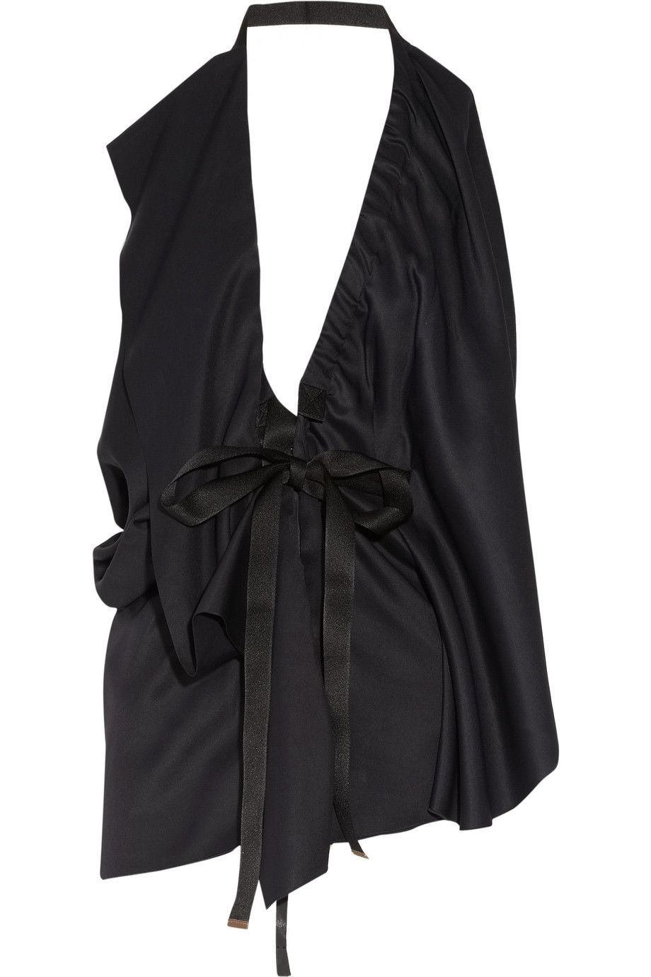 Marni Draped satin-twill top - 50% Off Now at THE OUTNET