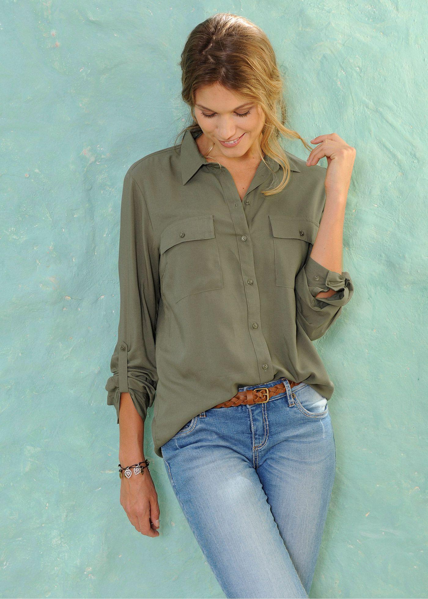 6ec00519c Camisa manga longa cru - Moda Feminina - bonprix.de | Blusas e ...
