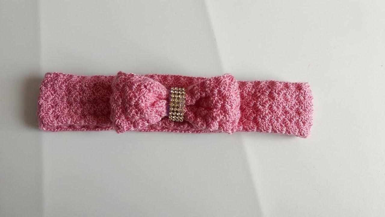 Crochet Diadema Vincha Banda Tiara Para El Cabello A Crochet - Diadema-ganchillo