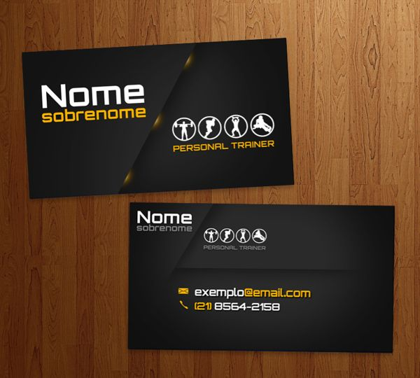 Personal Trainer Business Cards Ideas Card Pinterest - Personal trainer business card template