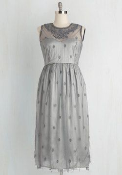Ethereal Girl Dress in Fog. All eyes will alight on you when you enter the room draped in this feminine maxi dress. #grey #prom #wedding #bridesmaid #modcloth