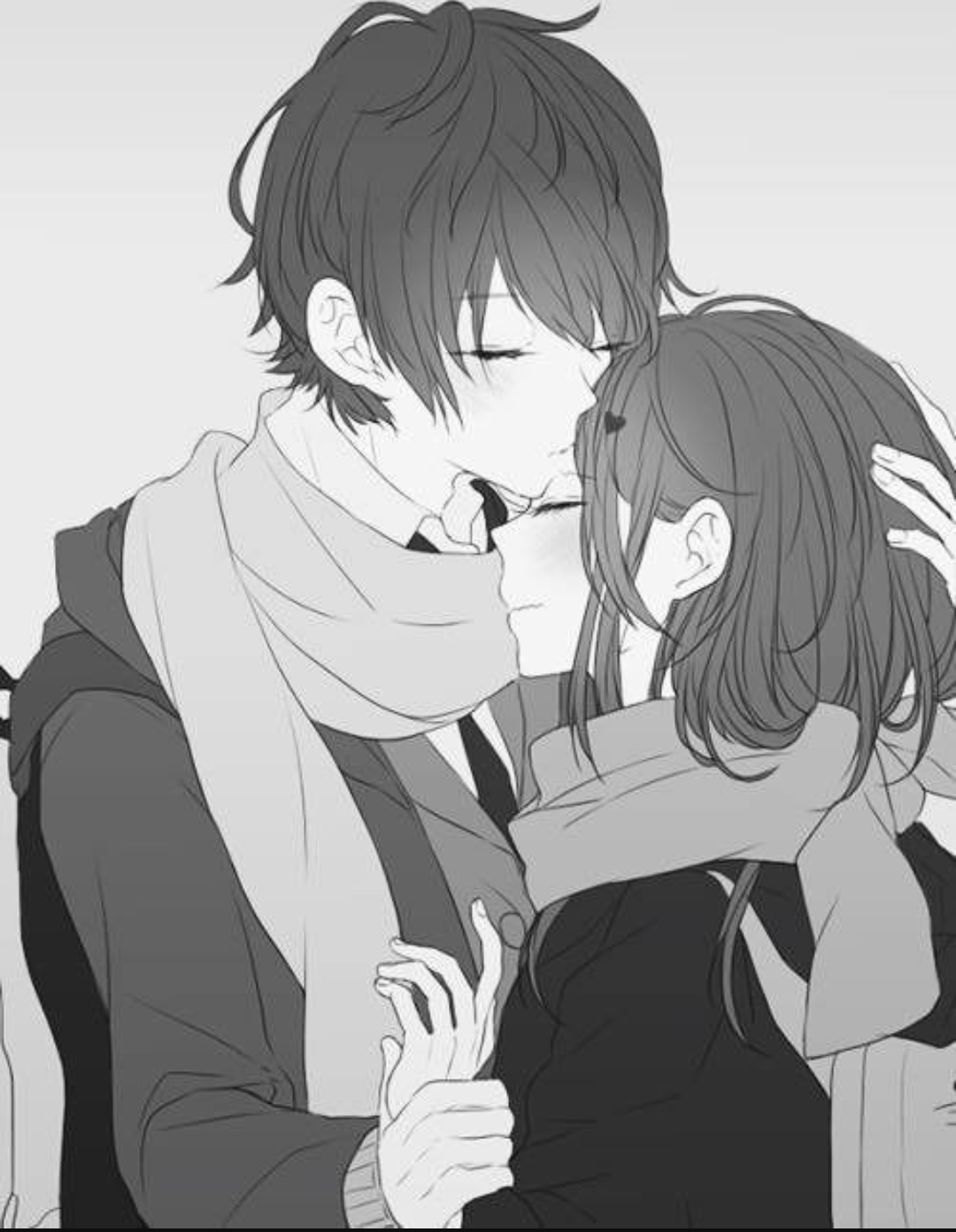 аниме картинки парня и девушки любовь