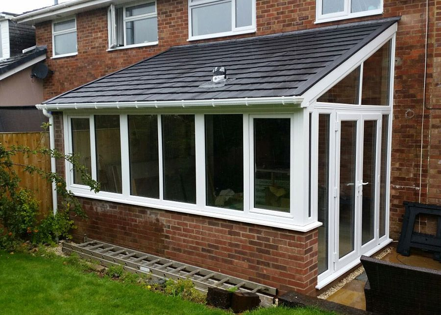 Lean To Tiled Roof Conservatory In Basingstoke Patio Windows Patio Enclosed Patio