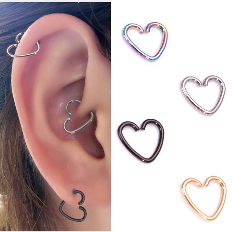 helix cartilage blue ring opal jewelry conch piercing rings nose hoop il nipple earring p septum tragus gold fullxfull