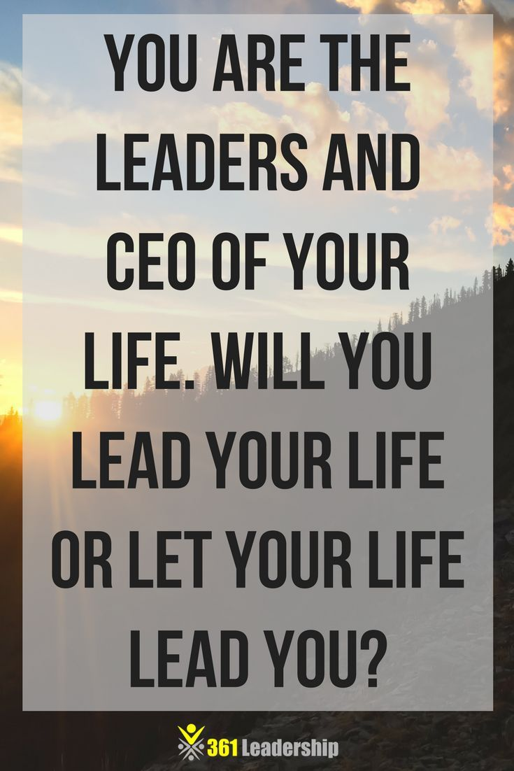 Become the leader of your own life 27