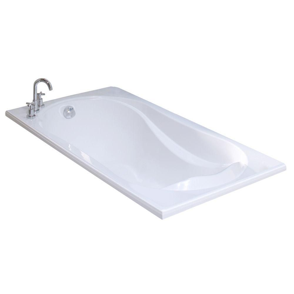 MAAX Velvet 5.5 ft. Reversible Drain Soaking Tub in White | Products