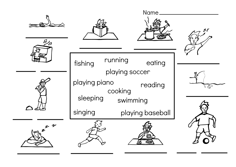 medium resolution of Picture Cloze Sports Worksheets for Kids Cute   Kiddo Shelter   Worksheets  for kids