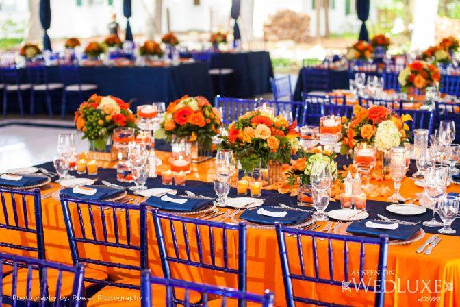 Planning Fl And Decor Elizabeth Johnston Event Decorator Blue Orange Weddingsorange