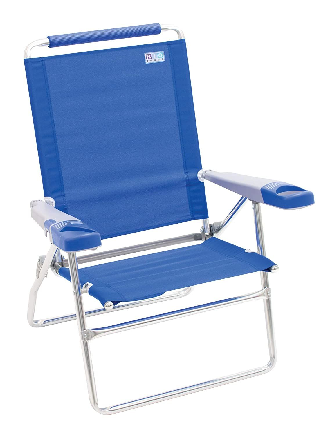 Rio Beach 15 Extended Height 4 Position Folding Beach Chair Light Blue Want To Know More Click On Folding Beach Chair Beach Chairs Backpack Beach Chair