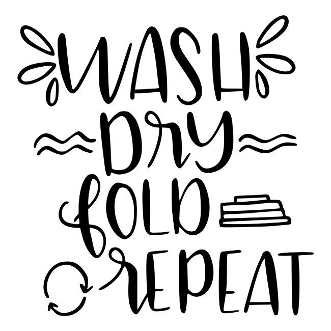 Wash Dry Fold Repeat Stencil - DIY Art in a Box