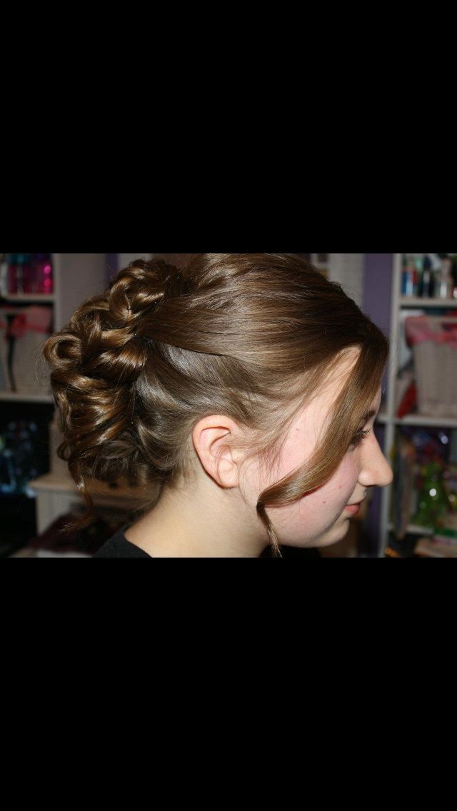 Semi formal updo for school event (With images) | Formal updos, Hair styles, Beauty