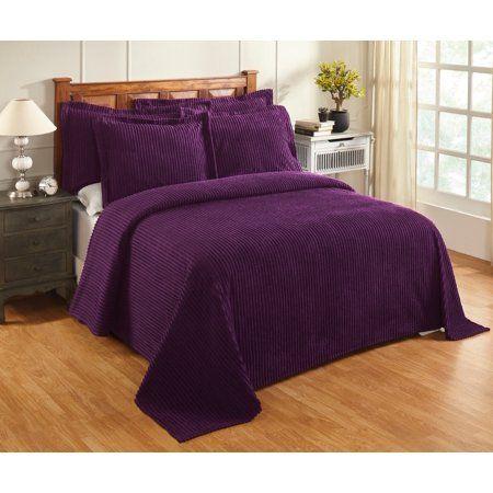 Aspen Bedspread Queen 102x110 Plum Purple Bed Spreads Queen