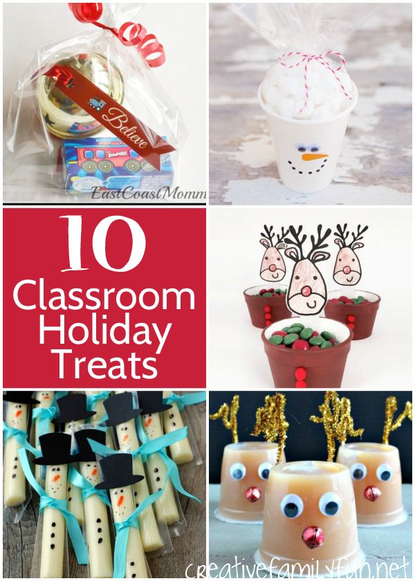 Are You Planning The Classroom Holiday Party Here Some Great Ideas For Christmas Treats