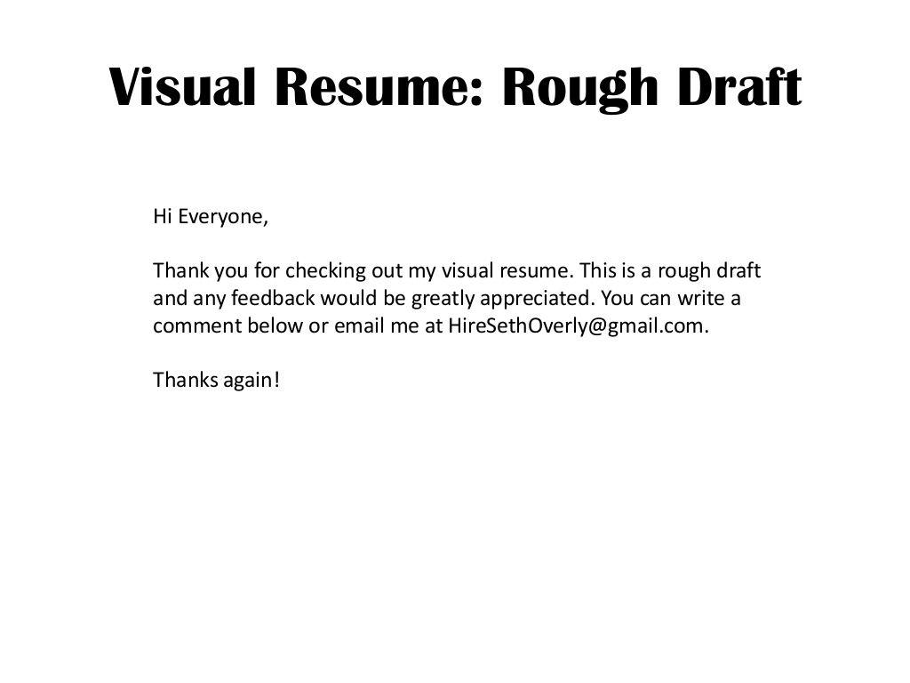 Visula Resume by Seth Overly via Slideshare | Infographic and Visual ...