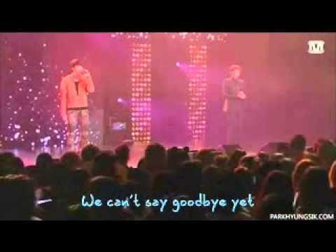 [Eng sub] ZE:A (Kwanghee & Hyungsik) - 안녕이라고 말하지마 (Don't Say Goodbye) LIVE