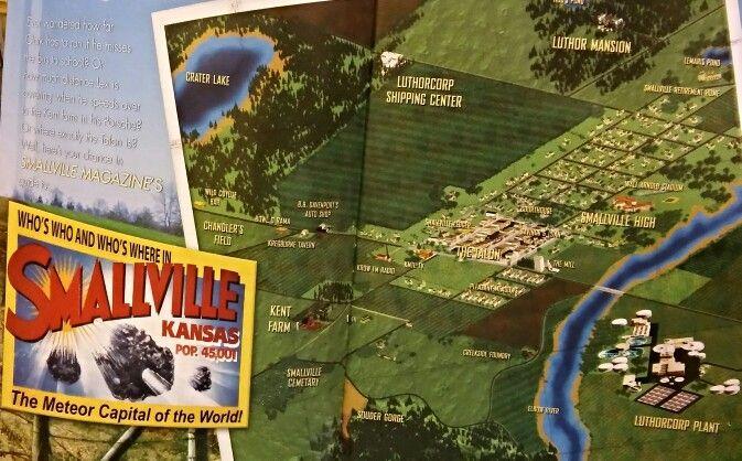 Smallville Map Smallville Pinterest Smallville Baseball Cards