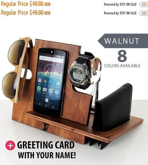 personalized men gift docking station for men gift for men iphine docking station christmas gift. Black Bedroom Furniture Sets. Home Design Ideas