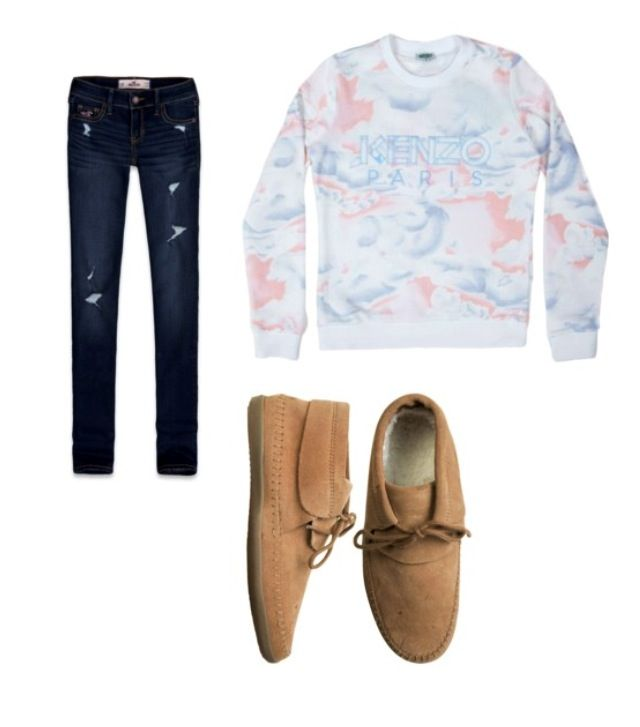 Skinny jeans with sweatshirt and mohikan vans : simple and cute