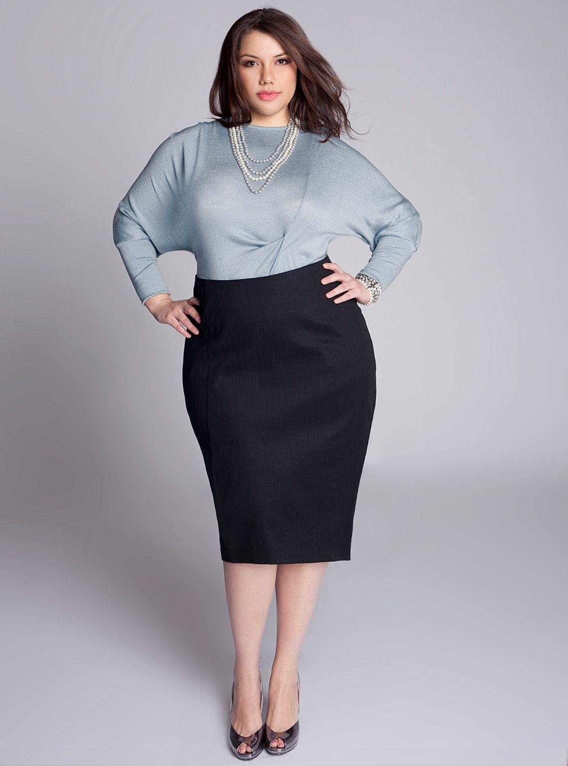 CURVY FASHION | Plus size pencil skirt, Plus size business ...