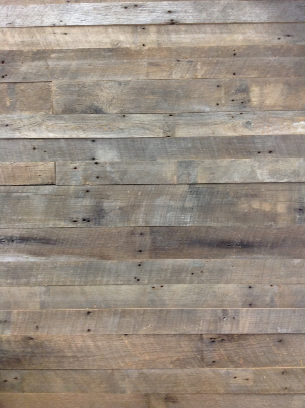 Why is processed barn siding better for interior accent for Recycled wood board