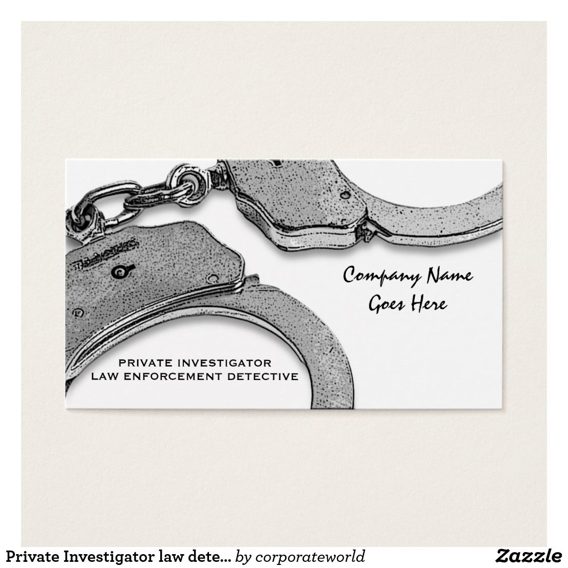 Private Investigator law detective enforcement Custom Check out more ...