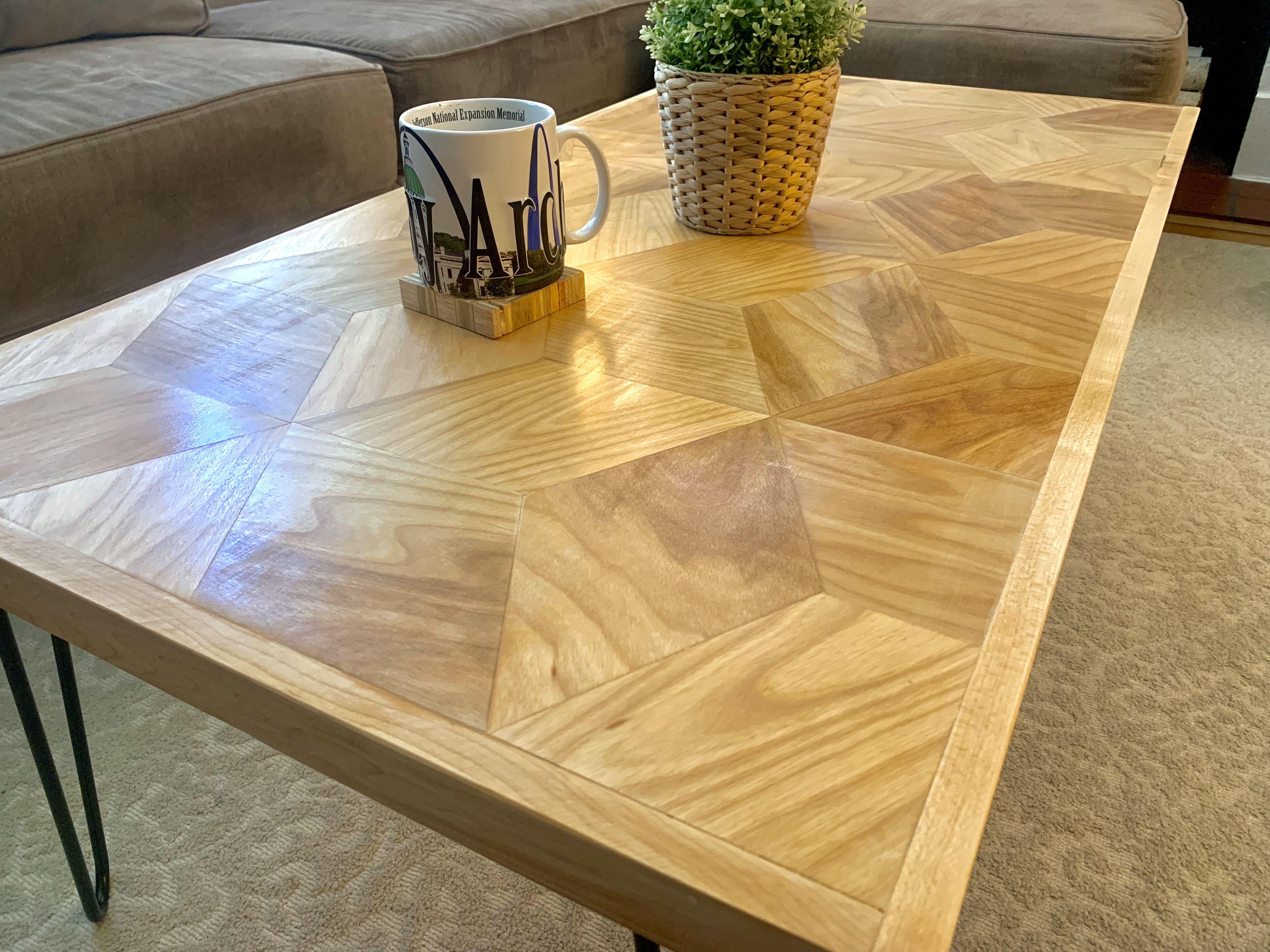 Diy Geometric Pattern Coffee Table Handmade Crafts Howto Diy Diy Table Legs Diy Coffee Table Pallet Coffee Table Diy [ 3024 x 4032 Pixel ]