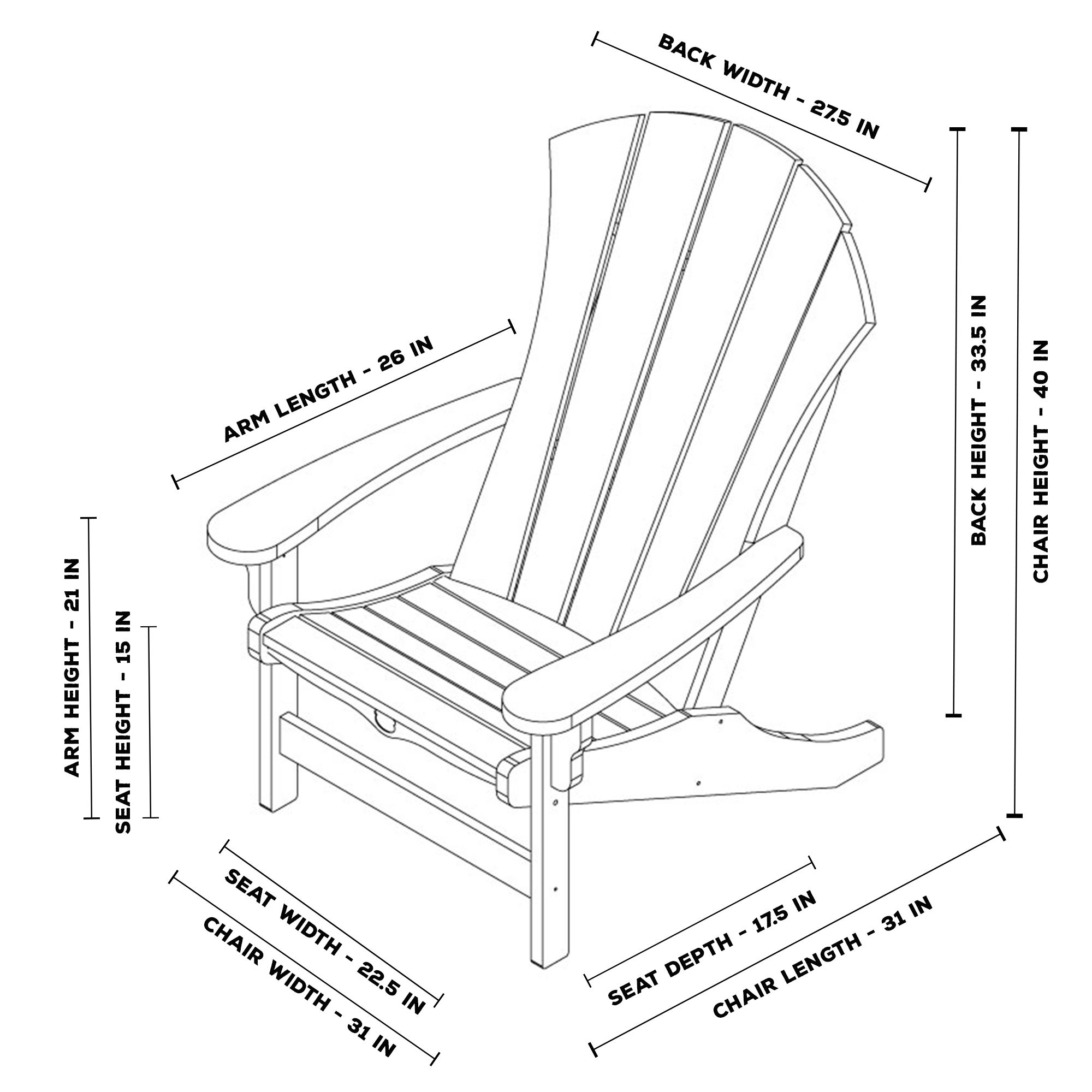 Looking to build your own Adirondack chair? View an easy
