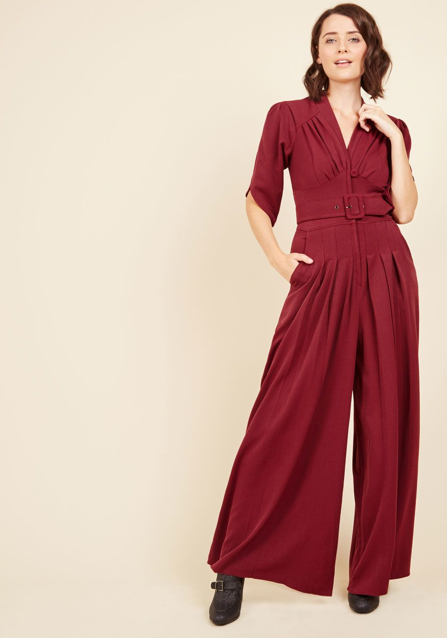4ed7528fd44 Miss Candyfloss The Embolden Age Jumpsuit in Burgundy