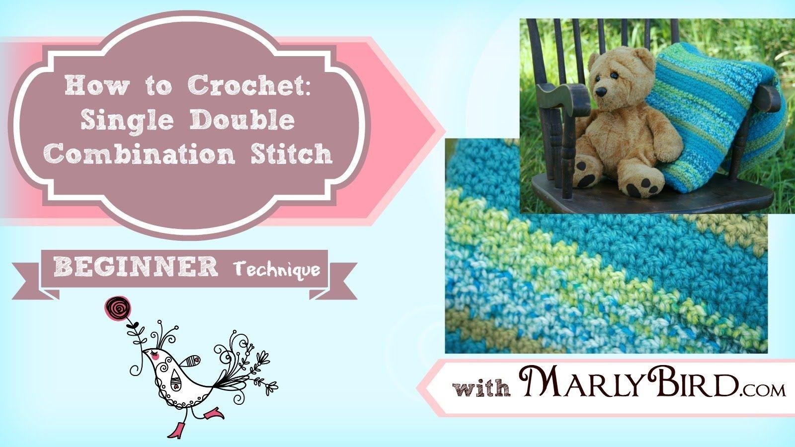 Single Double Combination Stitch (Seed Stitch/Waffle Stitch) video ...