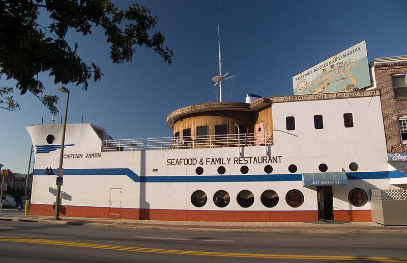 Captain James Landing Seafood Restaurant Baltimore Maryland