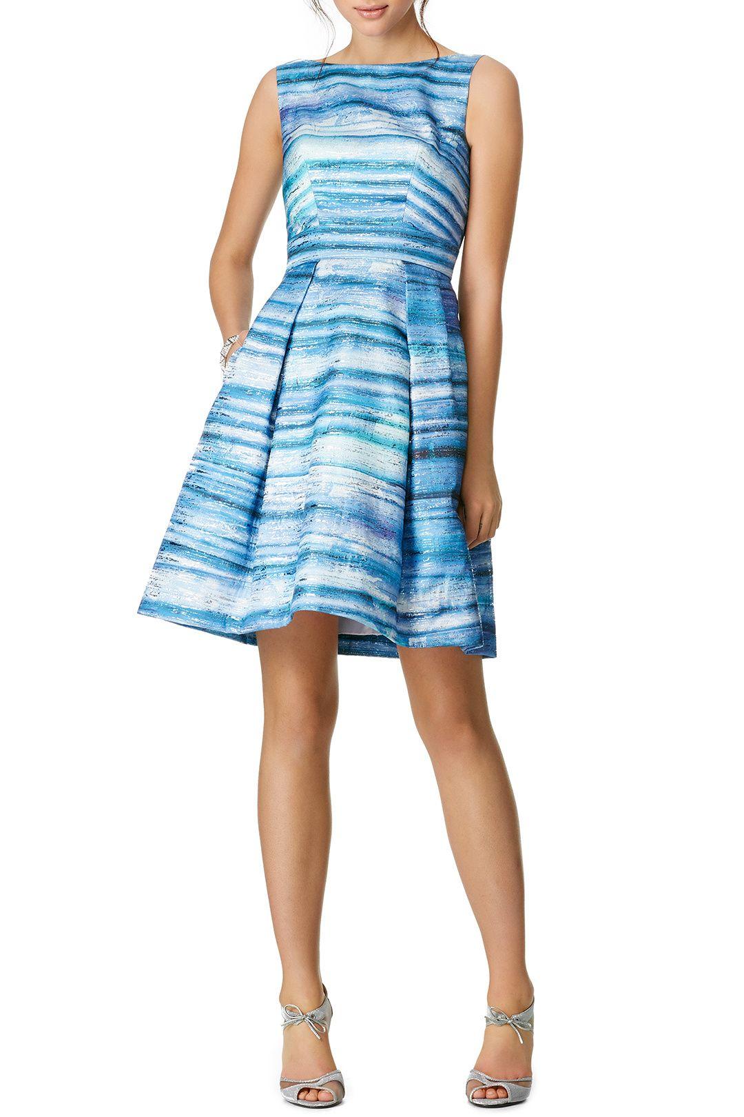 Blue Gradient Dress Dresses, Theia dresses, Nice dresses