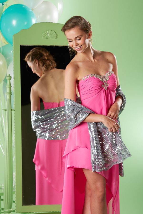 Nightway Strapless Chiffon Gown #belk #prom Prom Perfect #2dayslook ...