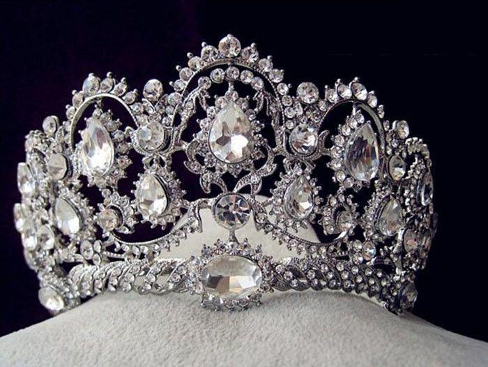 Fantastic Wedding Tiara Beauty Pageant Crown Clear Rhinestones Hairwear Jewelry