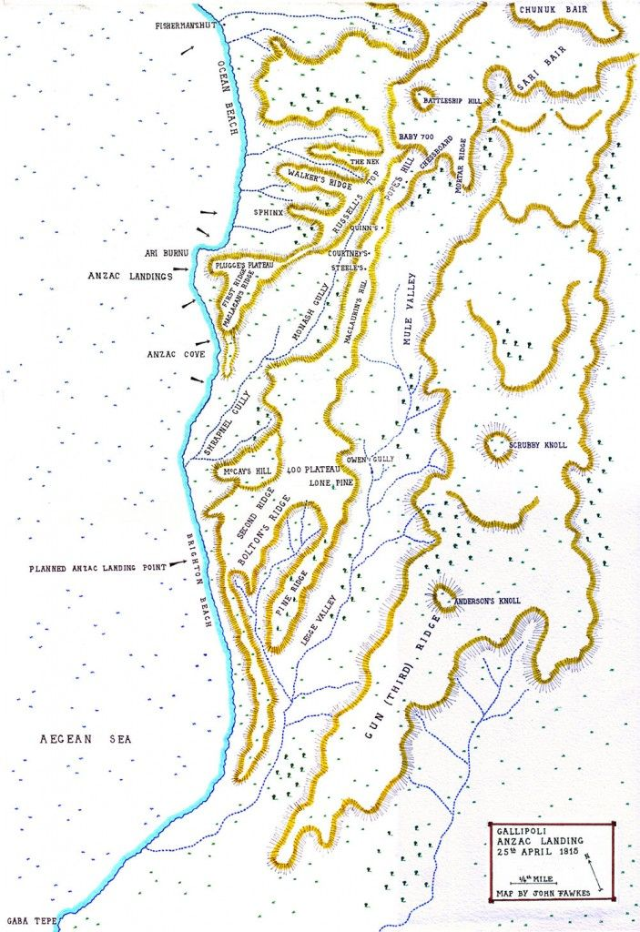 Map of the Anzac landing on Gallipoli 25th April 1915: map ... Gallipoli Map on battle of verdun map, tannenberg map, benevento map, bosporus map, aegean sea map, troy map, ypres map, greece map, palestine map, western front map, dardanelles map, australia map, florence map, balkan peninsula map, world map, suvla bay map, messina map, hundred days offensive map, italian front map, antalya map,