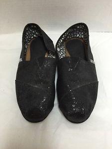243d6ab4020 Womens-Toms-Shoes-7-5-M-Black-Sparkle-Flats