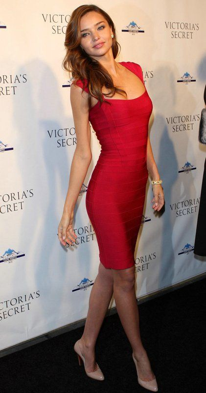 Herve Leger Color Of Love Bandage Dress Perfect Celebratory Red Dress Style Miranda Kerr Robe En Ligne Elegantes Robes De Bal